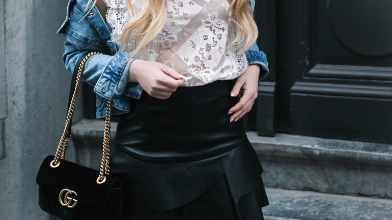 Ruffles and leather