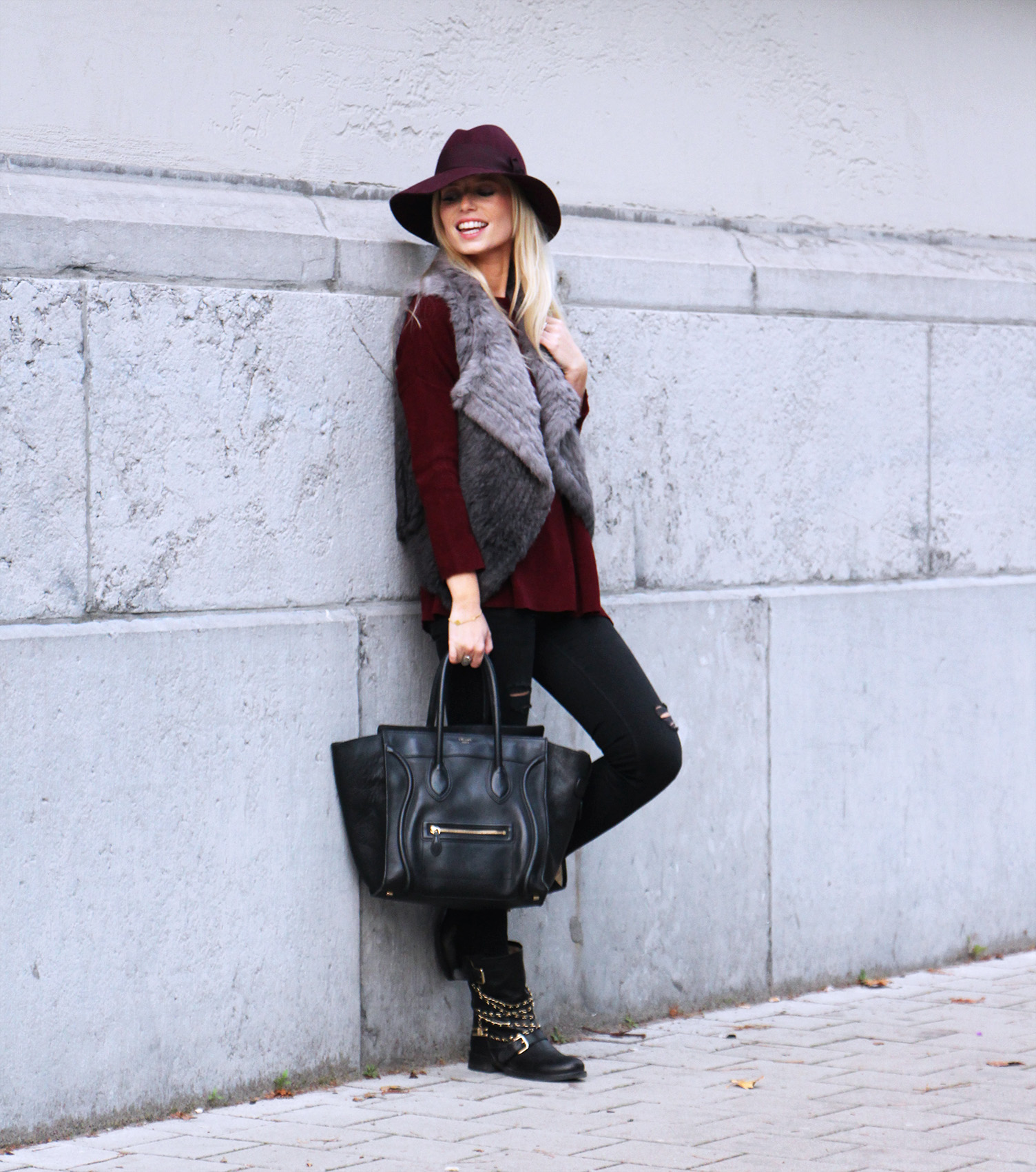 Outfit || Burgundy baby