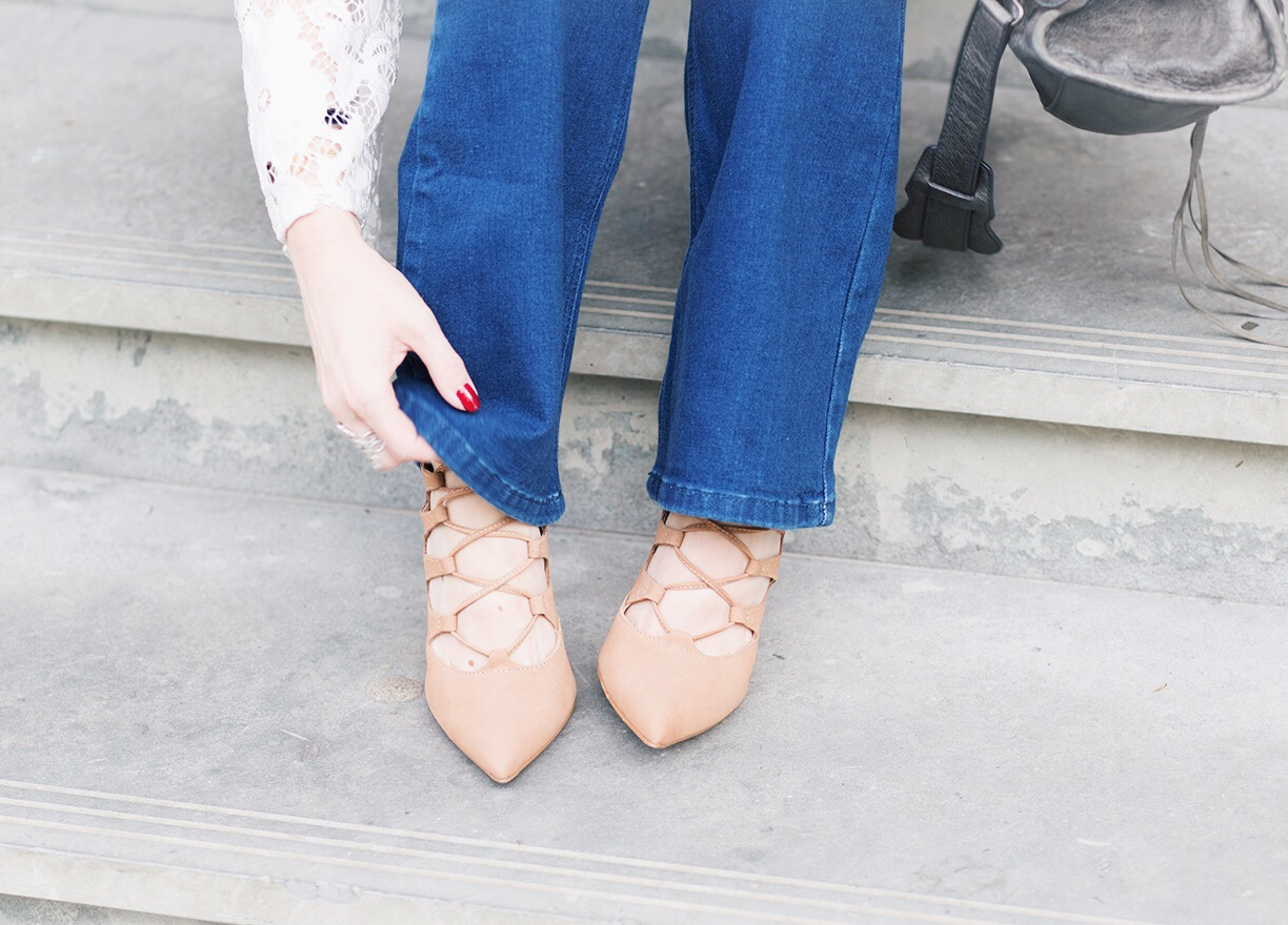 Outfit || 1 flared jeans – 3 looks