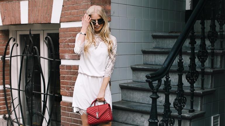 The white slip dress